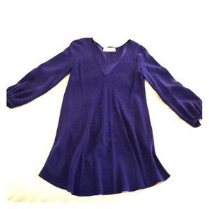 Amanda Uprichard Cobalt Blue Mini Dress